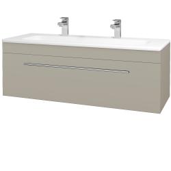 Dreja - Kúpeľňová skriňa ASTON SZZ 120 - L04 Béžová vysoký lesk / Úchytka T02 / L04 Béžová vysoký lesk (109639BU)
