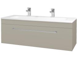 Dreja - Kúpeľňová skriňa ASTON SZZ 120 - L04 Béžová vysoký lesk / Úchytka T03 / L04 Béžová vysoký lesk (109639CU)
