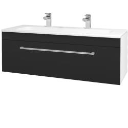 Dreja - Kúpeľňová skriňa ASTON SZZ 120 - N01 Bílá lesk / Úchytka T03 / L03 Antracit vysoký lesk (131586CU)