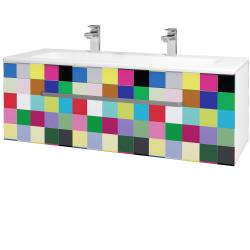 Dreja - Kúpeľňová skriňa ASTON SZZ 120 - N01 Bílá lesk / Úchytka T01 / IND Individual (131647AU)