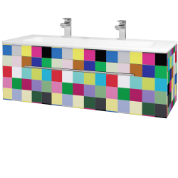 Dreja - Kúpeľňová skriňa ASTON SZZ 120 - IND Individual / Úchytka T02 / IND Individual (109646BU)