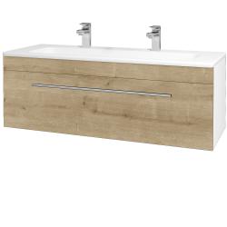 Dreja - Kúpeľňová skriňa ASTON SZZ 120 - N01 Bílá lesk / Úchytka T02 / D09 Arlington (109431BU)