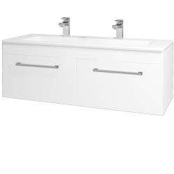 Dreja - Kúpeľňová skriňa ASTON SZZ2 120 - N01 Bílá lesk / Úchytka T03 / L01 Bílá vysoký lesk (131623CU)