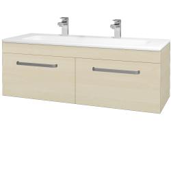 Dreja - Kúpeľňová skriňa ASTON SZZ2 120 - D02 Bříza / Úchytka T01 / D02 Bříza (131524AU)