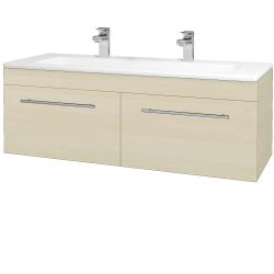 Dreja - Kúpeľňová skriňa ASTON SZZ2 120 - D02 Bříza / Úchytka T02 / D02 Bříza (131524BU)
