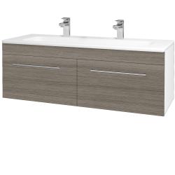 Dreja - Kúpeľňová skriňa ASTON SZZ2 120 - N01 Bílá lesk / Úchytka T02 / D03 Cafe (131180BU)