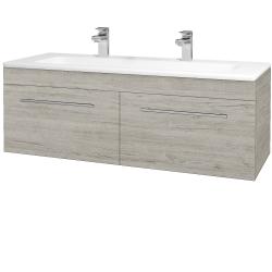 Dreja - Kúpeľňová skriňa ASTON SZZ2 120 - D05 Oregon / Úchytka T02 / D05 Oregon (131555BU)