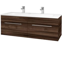Dreja - Kúpeľňová skriňa ASTON SZZ2 120 - D06 Ořech / Úchytka T02 / D06 Ořech (131562BU)