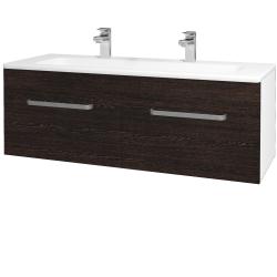 Dreja - Kúpeľňová skriňa ASTON SZZ2 120 - N01 Bílá lesk / Úchytka T01 / D08 Wenge (131227AU)