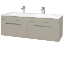 Dreja - Kúpeľňová skriňa ASTON SZZ2 120 - L04 Béžová vysoký lesk / Úchytka T01 / L04 Béžová vysoký lesk (146962AU)