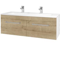 Dreja - Kúpeľňová skriňa ASTON SZZ2 120 - N01 Bílá lesk / Úchytka T03 / D09 Arlington (146849CU)