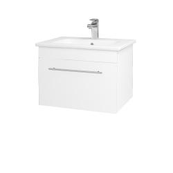 Dreja - Kúpeľňová skriňa ASTON SZZ 60 - N01 Bílá lesk / Úchytka T02 / M01 Bílá mat (199197B)