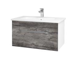 Dreja - Kúpeľňová skriňa ASTON SZZ 80 - N01 Bílá lesk / Úchytka T01 / D10 Borovice Jackson (108823A)