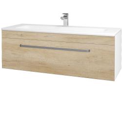 Dreja - Kúpeľňová skriňa ASTON SZZ 120 - N01 Bílá lesk / Úchytka T01 / D15 Nebraska (173975A)
