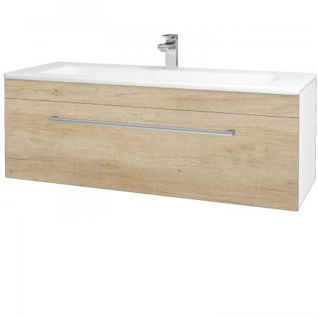 Dreja - Kúpeľňová skriňa ASTON SZZ 120 - N01 Bílá lesk / Úchytka T03 / D15 Nebraska (173975C)