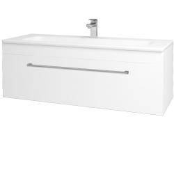 Dreja - Kúpeľňová skriňa ASTON SZZ 120 - N01 Bílá lesk / Úchytka T03 / M01 Bílá mat (200121C)