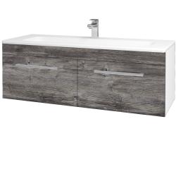 Dreja - Kúpeľňová skriňa ASTON SZZ2 120 - N01 Bílá lesk / Úchytka T03 / D10 Borovice Jackson (146856C)