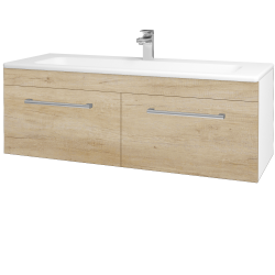 Dreja - Kúpeľňová skriňa ASTON SZZ2 120 - N01 Bílá lesk / Úchytka T03 / D15 Nebraska (173999C)