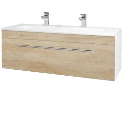 Dreja - Kúpeľňová skriňa ASTON SZZ 120 - N01 Bílá lesk / Úchytka T02 / D15 Nebraska (173975BU)