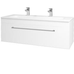 Dreja - Kúpeľňová skriňa ASTON SZZ 120 - N01 Bílá lesk / Úchytka T03 / M01 Bílá mat (200121CU)