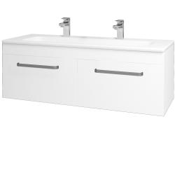 Dreja - Kúpeľňová skriňa ASTON SZZ2 120 - N01 Bílá lesk / Úchytka T01 / M01 Bílá mat (200282AU)
