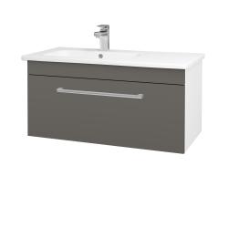 Dreja - Kúpeľňová skriňa ASTON SZZ 90 - N01 Bílá lesk / Úchytka T03 / N06 Lava (199838C)
