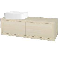 Dreja - Kúpeľňová skriňa STORM SZZ2 120 (umývadlo Joy) - D02 Bříza / D02 Bříza / Pravé (214036P)