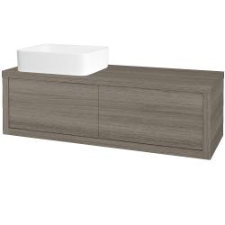 Dreja - Kúpeľňová skriňa STORM SZZ2 120 (umývadlo Joy) - D03 Cafe / D03 Cafe / Levé (213657)