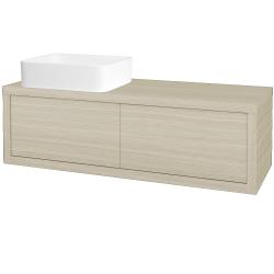 Dreja - Kúpeľňová skriňa STORM SZZ2 120 (umývadlo Joy) - D04 Dub / D04 Dub / Pravé (214050P)