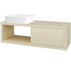 Dreja - Kúpeľňová skriňa STORM SZZO 120 (umývadlo Joy) - D02 Bříza / D02 Bříza / Levé (214425)