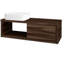 Dreja - Kúpeľňová skriňa STORM SZZO 120 (umývadlo Joy) - D06 Ořech / D06 Ořech / Levé (214463)