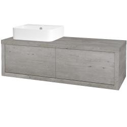 Dreja - Kúpeľňová skriňa STORM SZZ2 120 (umývadlo JOY 3) - D01 Beton / D01 Beton / Levé (218317)