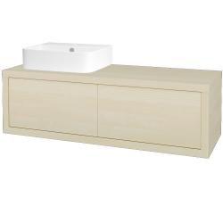 Dreja - Kúpeľňová skriňa STORM SZZ2 120 (umývadlo JOY 3) - D02 Bříza / D02 Bříza / Pravé (218713P)