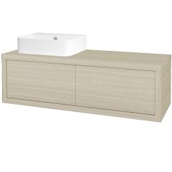 Dreja - Kúpeľňová skriňa STORM SZZ2 120 (umývadlo JOY 3) - D04 Dub / D04 Dub / Levé (218348)