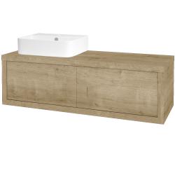 Dreja - Kúpeľňová skriňa STORM SZZ2 120 (umývadlo JOY 3) - D09 Arlington / D09 Arlington / Levé (218386)