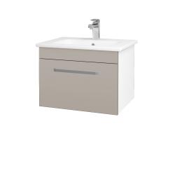 Dreja - Kúpeľňová skriňa ASTON SZZ 60 - N01 Bílá lesk / Úchytka T01 / N07 Stone (199234A)