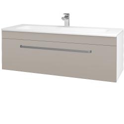 Dreja - Kúpeľňová skriňa ASTON SZZ 120 - N01 Bílá lesk / Úchytka T01 / N07 Stone (200169A)