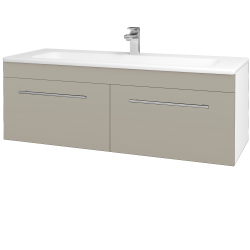 Dreja - Kúpeľňová skriňa ASTON SZZ2 120 - N01 Bílá lesk / Úchytka T02 / M05 Béžová mat (200299B)