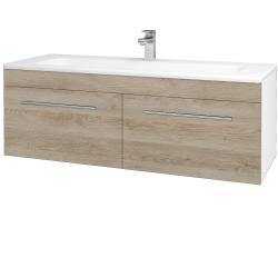Dreja - Kúpeľňová skriňa ASTON SZZ2 120 - N01 Bílá lesk / Úchytka T02 / D17 Colorado (200275B)