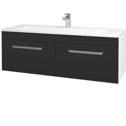 Dreja - Kúpeľňová skriňa ASTON SZZ2 120 - N01 Bílá lesk / Úchytka T01 / N03 Graphite (200305A)