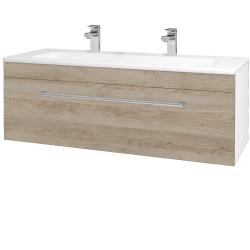Dreja - Kúpeľňová skriňa ASTON SZZ 120 - N01 Bílá lesk / Úchytka T03 / D17 Colorado (200114CU)