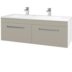 Dreja - Kúpeľňová skriňa ASTON SZZ2 120 - N01 Bílá lesk / Úchytka T01 / M05 Béžová mat (200299AU)