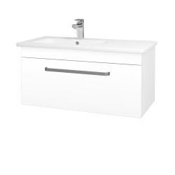 Dreja - Kúpeľňová skriňa ASTON SZZ 90 - N01 Bílá lesk / Úchytka T01 / L01 Bílá vysoký lesk (199777A)