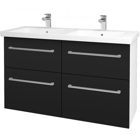 Dreja - Kúpeľňová skriňa BIG INN SZZ4 125 - N01 Bílá lesk / Úchytka T03 / N08 Cosmo (200992C)