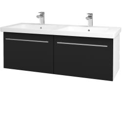 Dreja - Kúpeľňová skriňa BIG INN SZZ2 125 - N01 Bílá lesk / Úchytka T02 / N08 Cosmo (201654B)