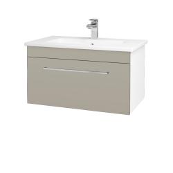 Dreja - Kúpeľňová skriňa ASTON SZZ 80 - N01 Bílá lesk / Úchytka T04 / L04 Béžová vysoký lesk (108861E)