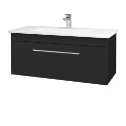 Dreja - Kúpeľňová skriňa ASTON SZZ 100 - L03 Antracit vysoký lesk / Úchytka T04 / L03 Antracit vysoký lesk (109318E)