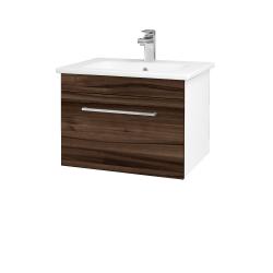 Dreja - Kúpeľňová skriňa ASTON SZZ 60 - N01 Bílá lesk / Úchytka T04 / D06 Ořech (130930E)