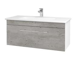Dreja - Kúpeľňová skriňa ASTON SZZ 100 - N01 Bílá lesk / Úchytka T04 / D01 Beton (131029E)