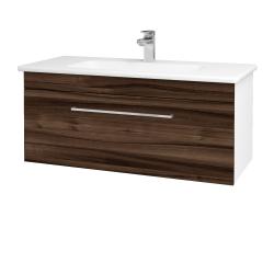 Dreja - Kúpeľňová skriňa ASTON SZZ 100 - N01 Bílá lesk / Úchytka T04 / D06 Ořech (131074E)